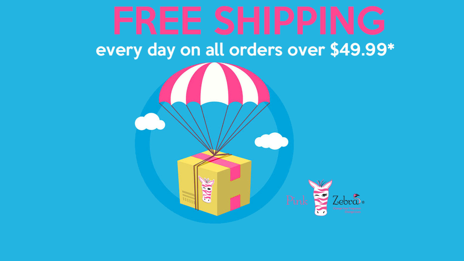 Now free shipping on all orders over $49.99